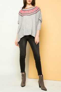 THML Clothing Dolman Embroidered Sweatshirt - Product List Image