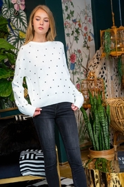THML Clothing Dot Sweater Cream - Product Mini Image