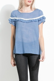 THML Clothing Double Ruffle Top - Product Mini Image