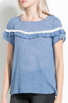 THML Clothing Double Ruffle Top - Alternate List Image