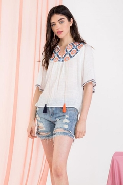 THML Clothing Embroidered Angel Top - Product List Image