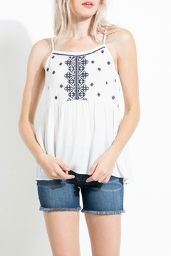 Shoptiques Product: Embroidered Babydoll Tank