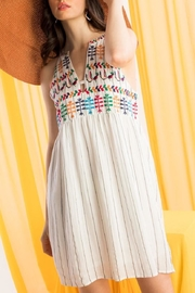 THML Clothing Embroidered Halter Dress - Front full body