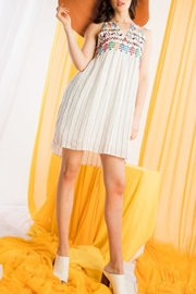 THML Clothing Embroidered Halter Dress - Product Mini Image