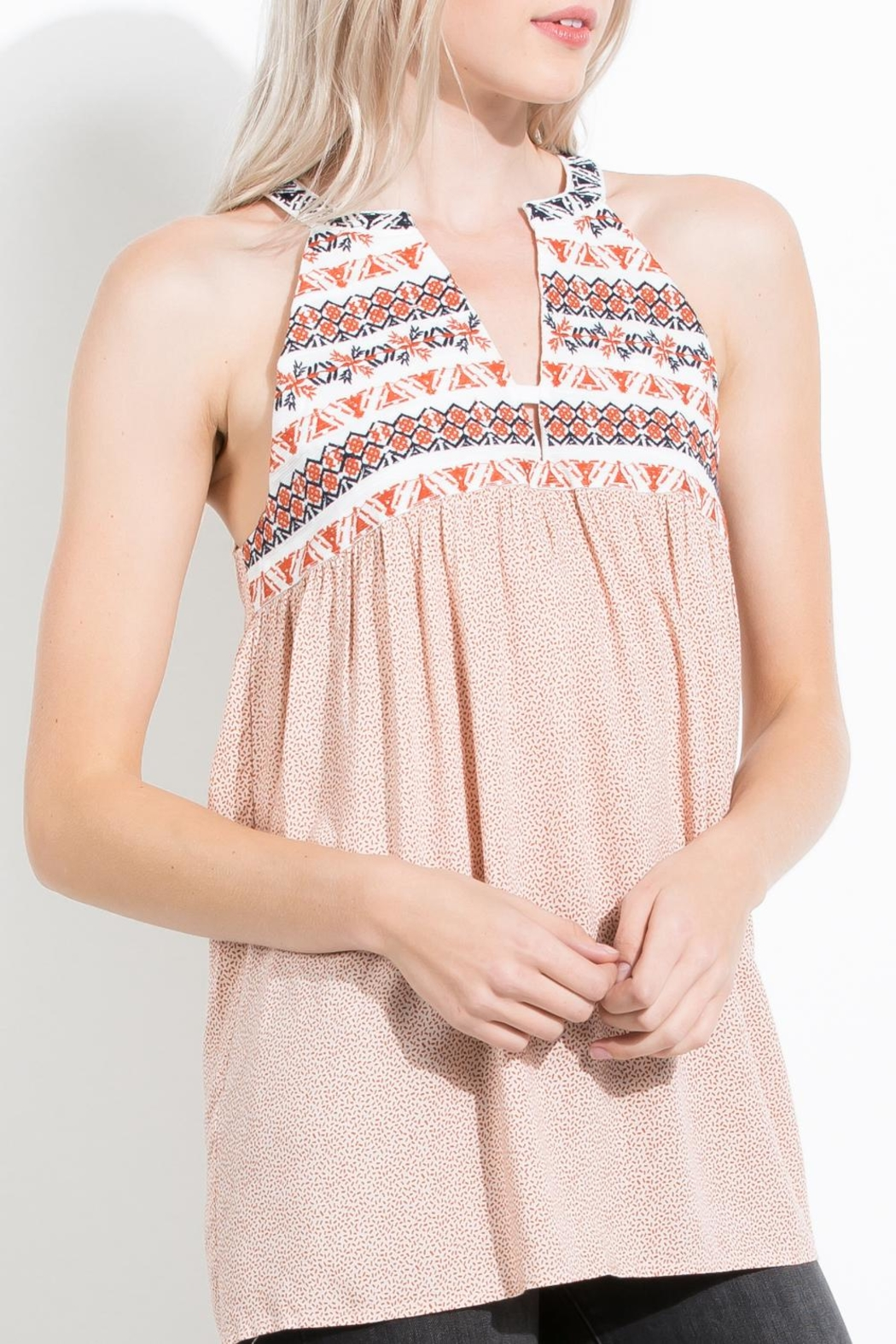 THML Clothing Embroidered Halter Top - Main Image
