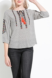 THML Clothing Embroidered Peasant Top - Product Mini Image