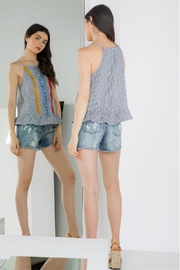 THML Clothing Embroidered Peplum Tank - Side cropped