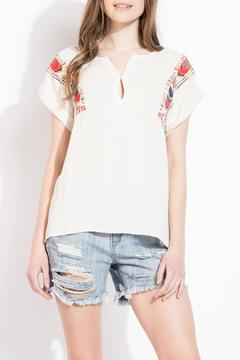 Shoptiques Product: Embroidered Sleeve Top