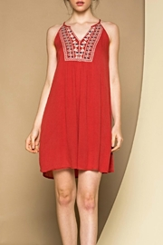 THML Clothing Embroidered Sleeveless Dress - Front cropped