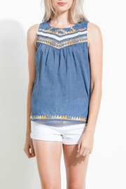 THML Clothing Embroidered Statement Top - Product Mini Image