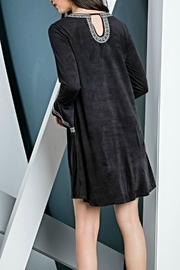 THML Clothing Embroidered Suede Dress - Front full body