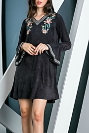 THML Clothing Embroidered Suede Dress - Product Mini Image