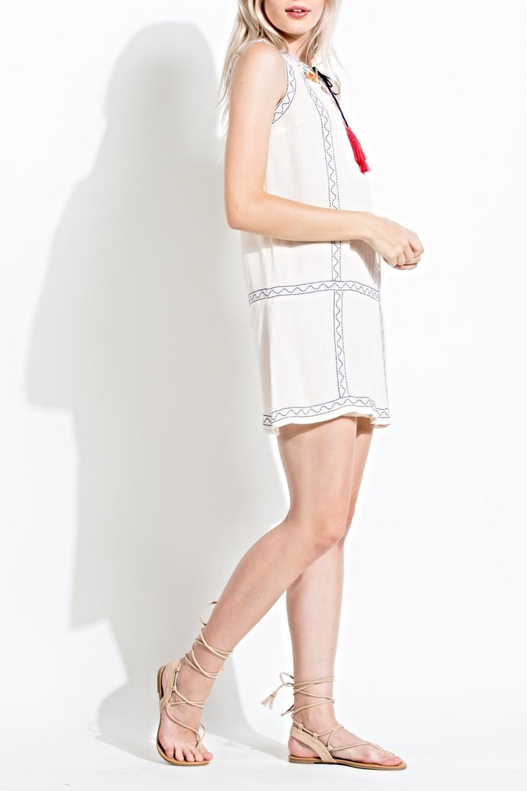 THML Clothing Embroidered Sun Dress - Front Full Image
