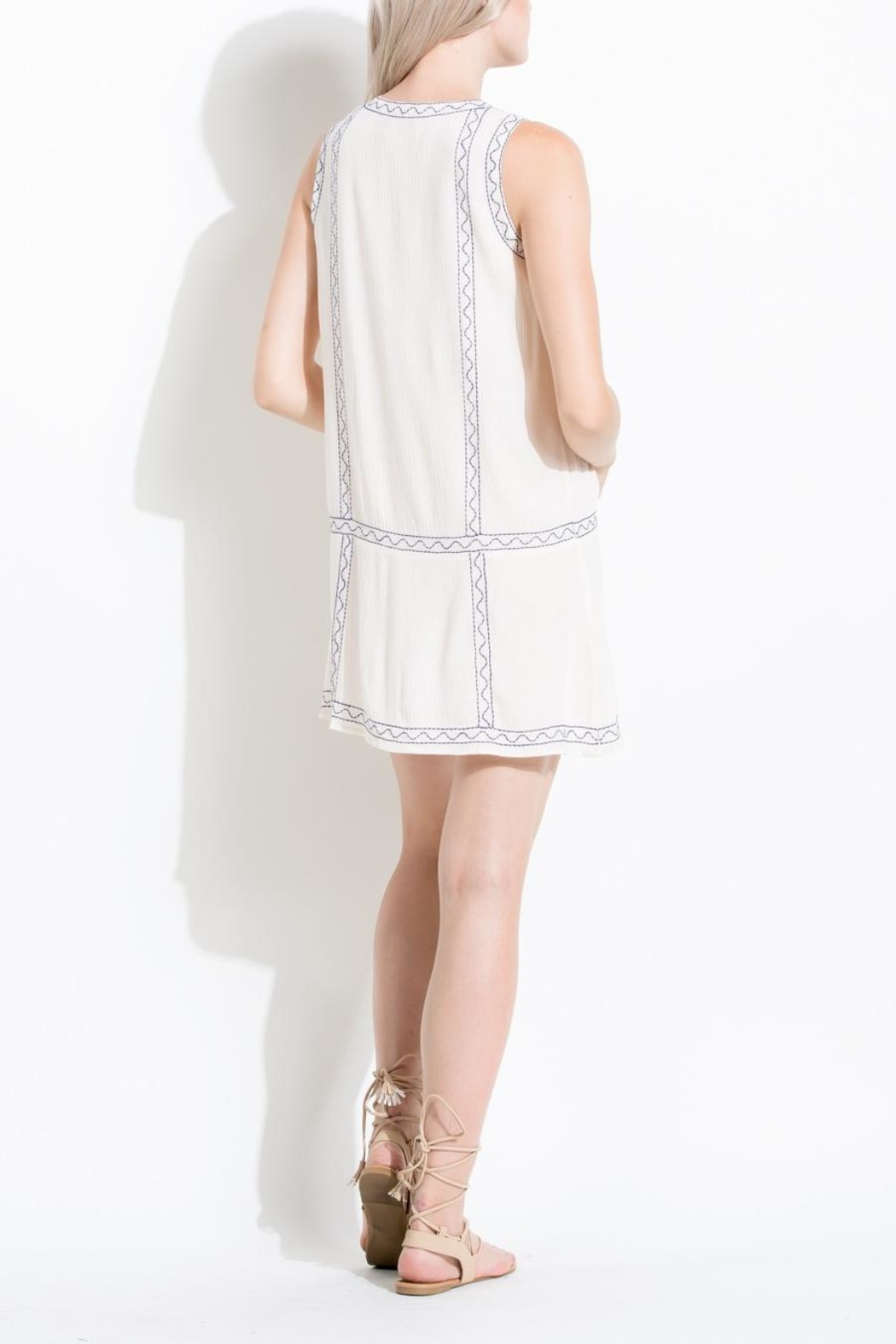 THML Clothing Embroidered Sun Dress - Side Cropped Image