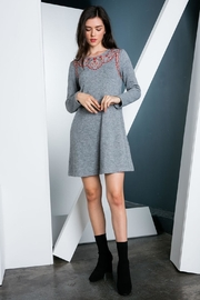 THML Clothing Embroidered Sweater Dress - Product Mini Image