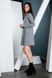THML Clothing Embroidered Sweater Dress - Front full body