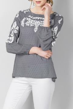 Shoptiques Product: Embroidered Swiss Dot Top