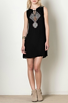 Shoptiques Product: Embroidered Tie Dress