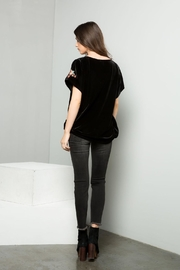 THML Clothing Embroidered Velvet Top - Back cropped