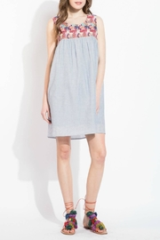 THML Clothing Embroidered Yoke Dress - Front cropped