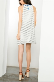 THML Clothing Sleeveless Embroidered Dress - Back cropped