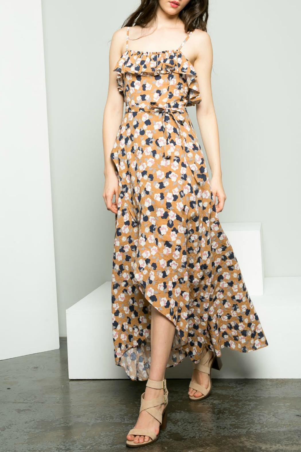 THML Clothing Floral Hi-Low Maxi - Main Image
