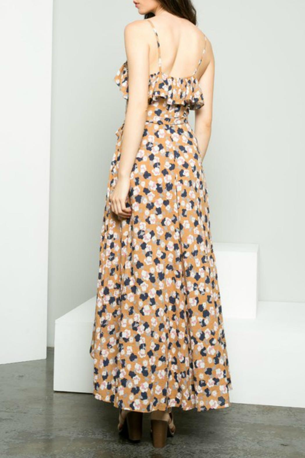 THML Clothing Floral Hi-Low Maxi - Front Full Image