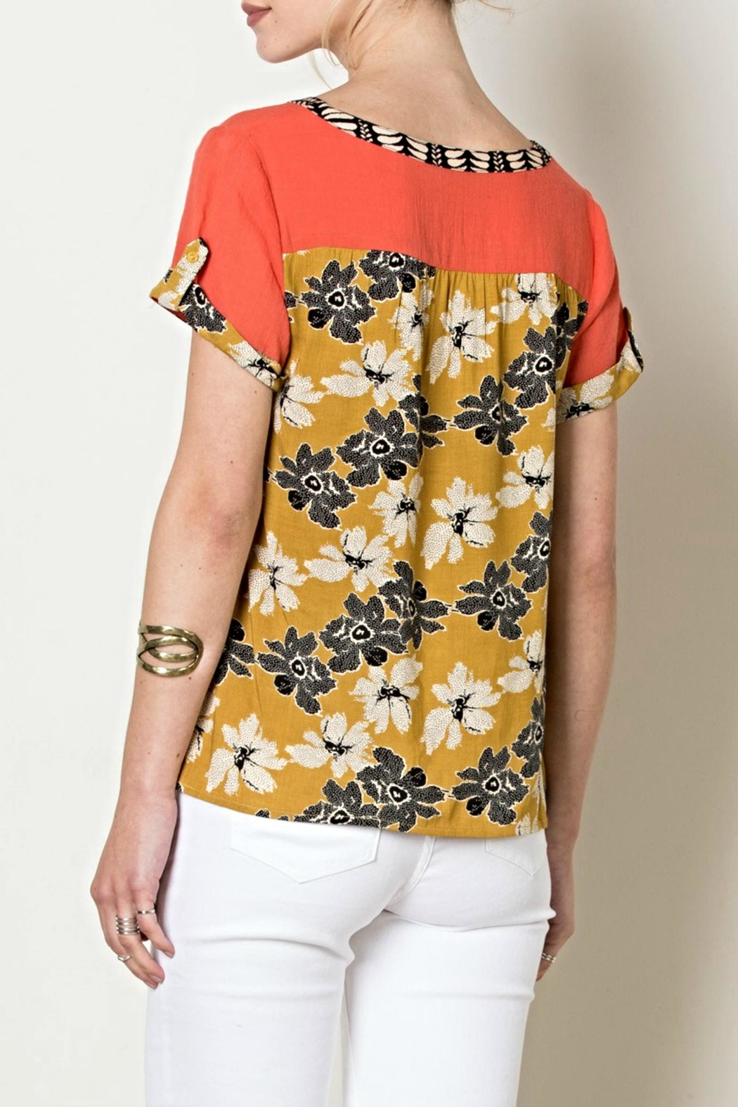 THML Clothing Flower Power Top - Side Cropped Image