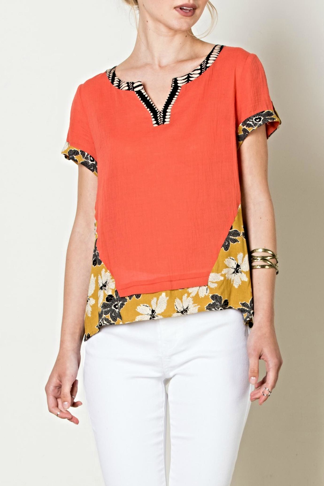 THML Clothing Flower Power Top - Main Image