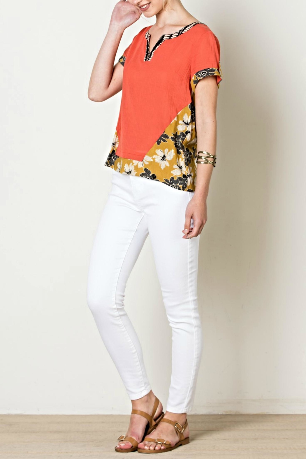 THML Clothing Flower Power Top - Front Full Image