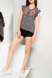 THML Clothing Flutter Sleeve Top - Product Mini Image