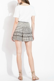 THML Clothing Geometric Printed Shorts - Back cropped