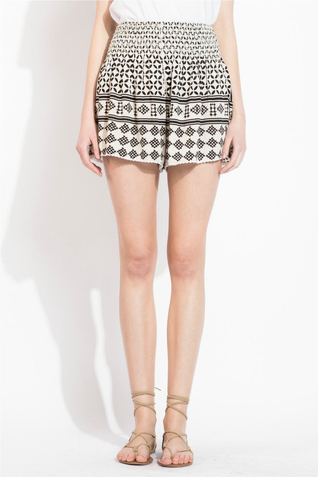 THML Clothing Geometric Printed Shorts - Front Full Image