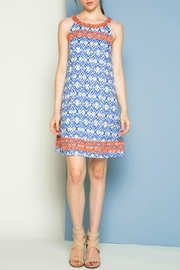 THML Clothing Halter Print Dress - Product Mini Image