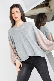 THML Clothing Jenny Color-Block Sweater - Product Mini Image