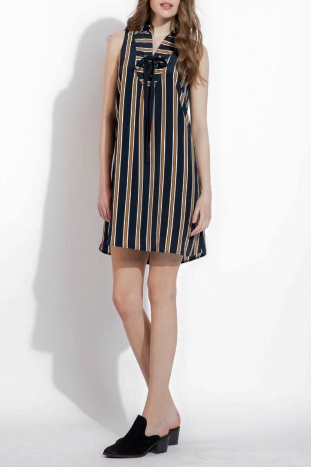 THML Clothing Lace Up Dress - Front Cropped Image