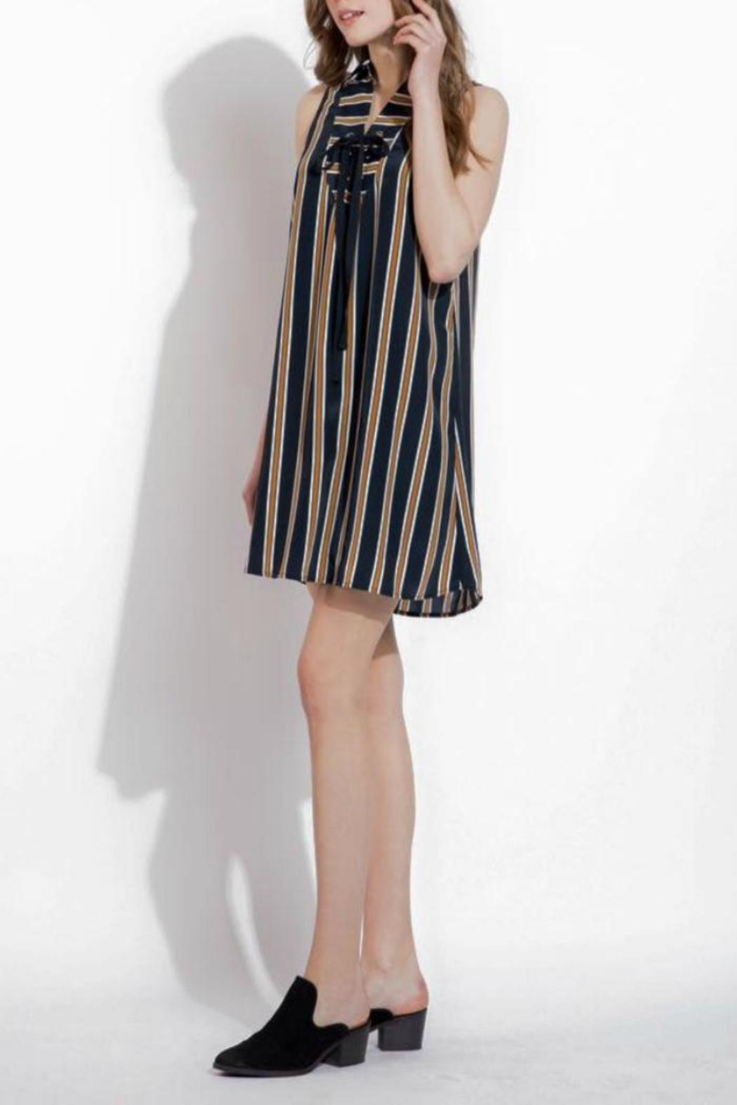 THML Clothing Lace Up Dress - Side Cropped Image
