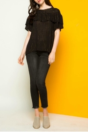 THML Clothing Metallic Stripe Top - Product Mini Image