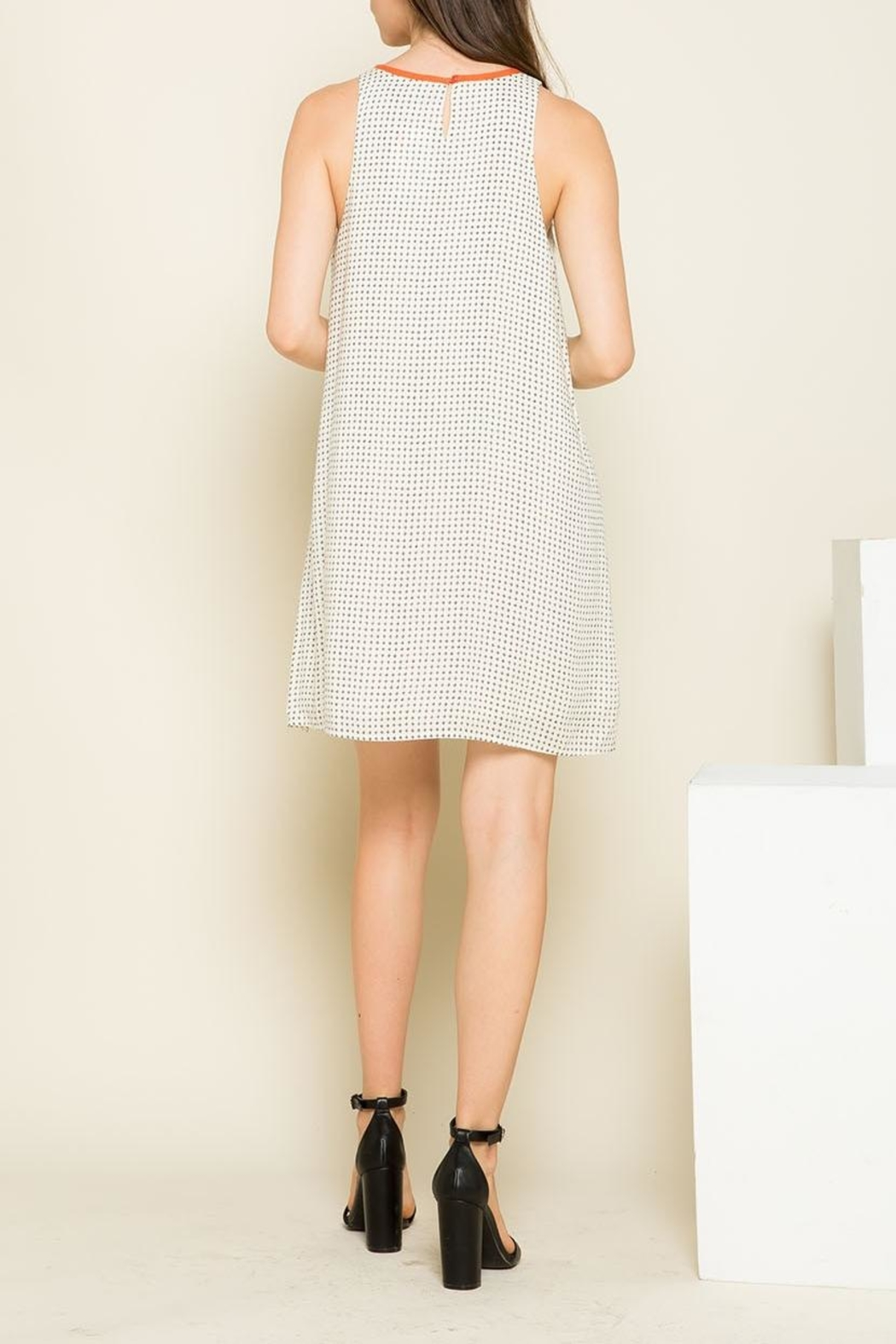 THML Clothing Mixed Print Dress - Side Cropped Image