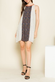 THML Clothing Mixed Print Dress - Front cropped