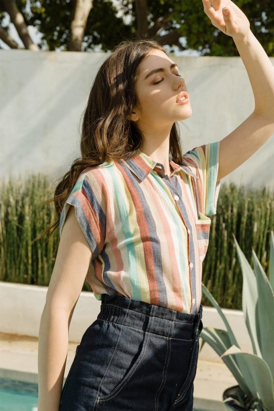 THML Clothing Multicolored Striped Shirt - Main Image