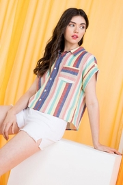 THML Clothing Multicolored Striped Shirt - Back cropped