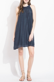 THML Clothing Navy Halter Dress - Product Mini Image