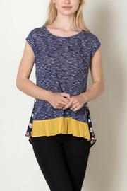 THML Clothing Navy Tribal Top - Front cropped