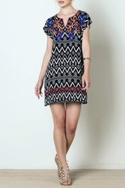 THML Clothing Patterned Tunic Dress - Front cropped