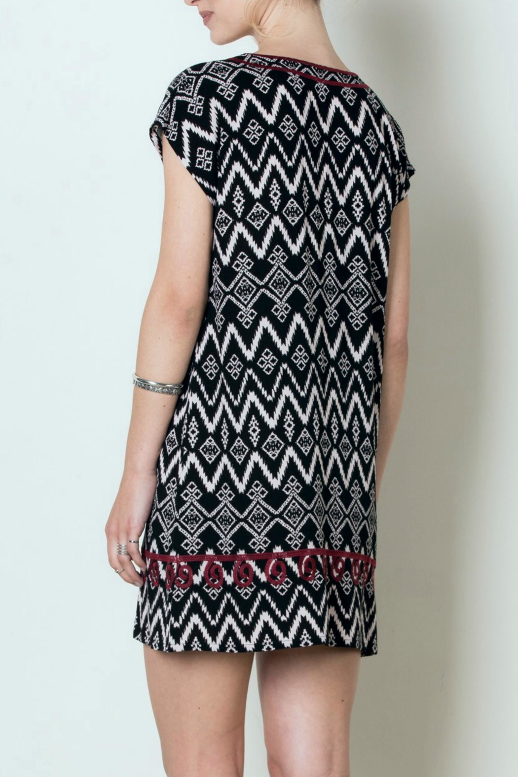 THML Clothing Patterned Tunic Dress - Front Full Image