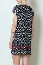 THML Clothing Patterned Tunic Dress - Front full body