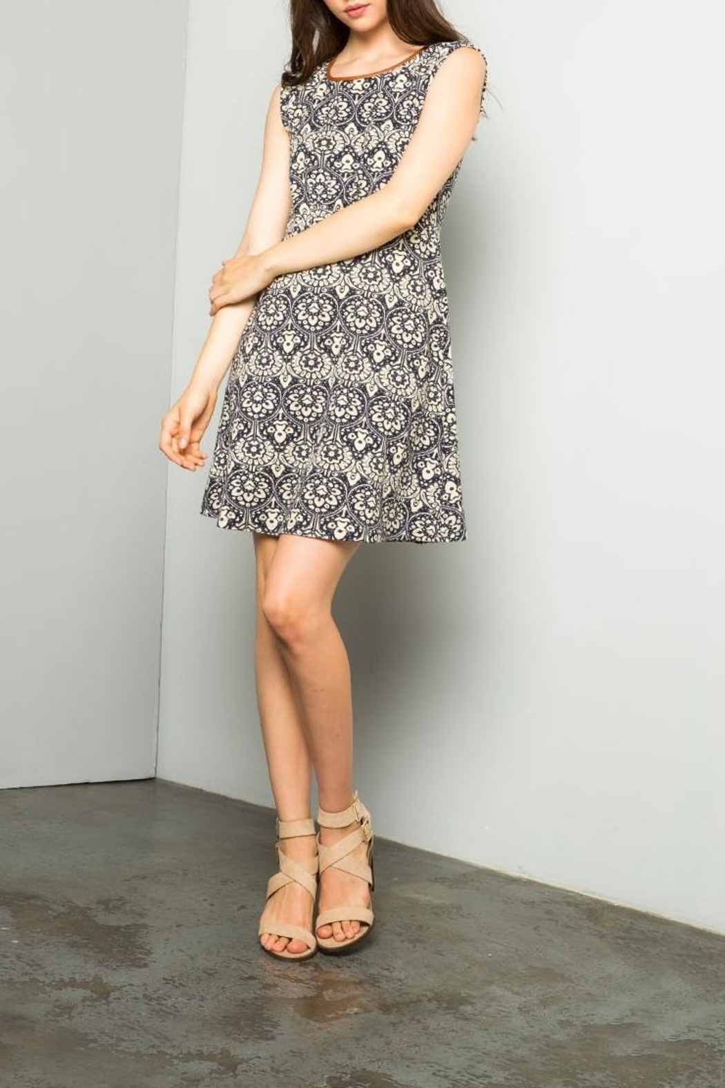 THML Clothing Printed A Line Dress - Main Image