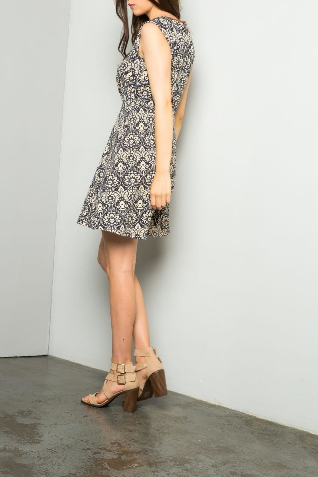 THML Clothing Printed A Line Dress - Front Full Image