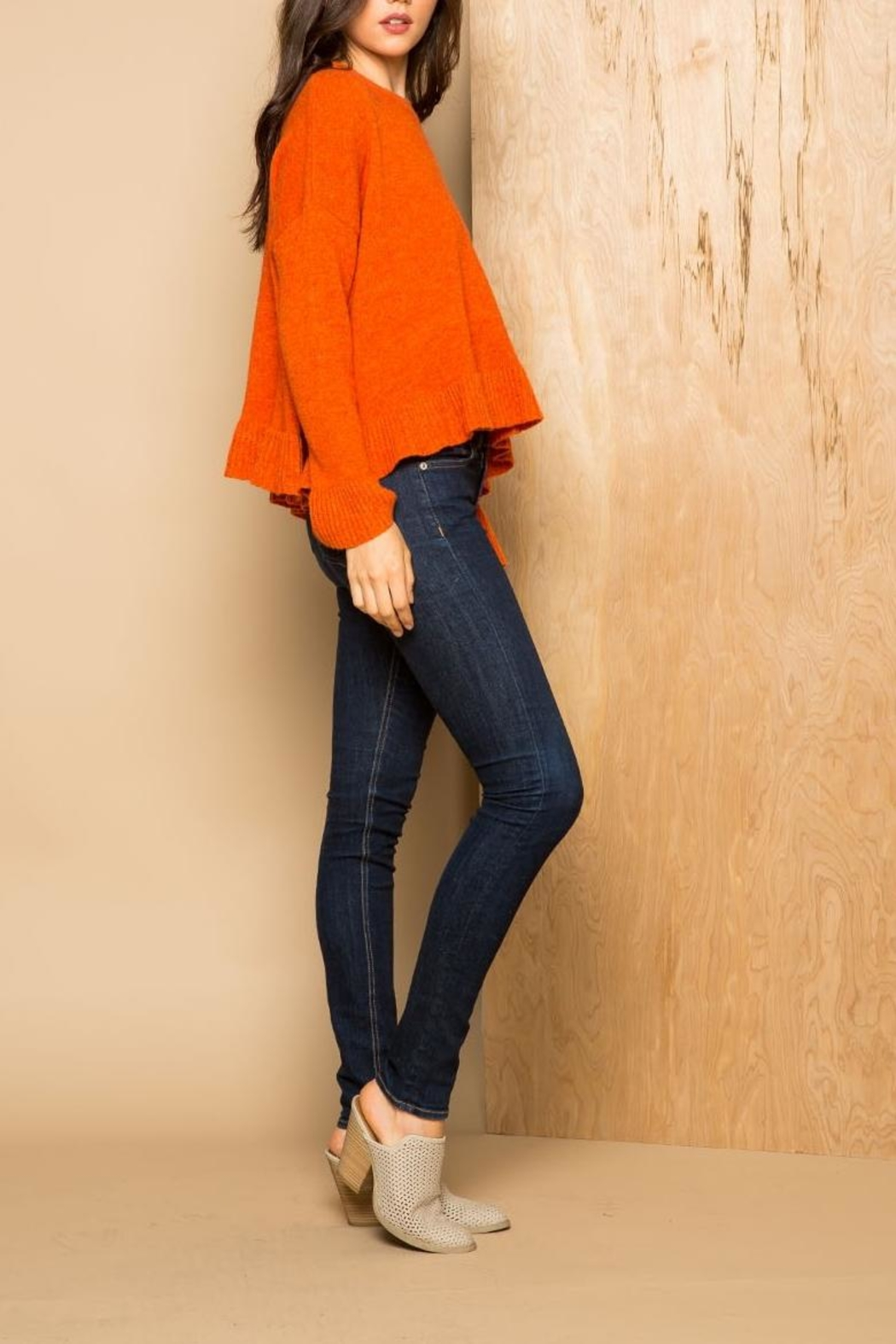 THML Clothing Ruffle Sweater - Front Full Image